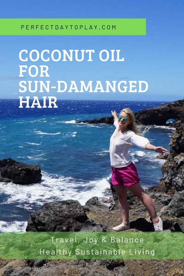How To Save Sun-Damaged Hair With Coconut Oil After Beach